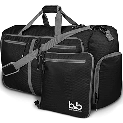 Extra Large Duffle Bag with Pockets - Travel Duffel Bag for Women and Men  (Black 7f768cbc8b502
