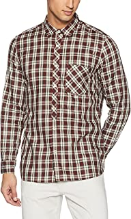 BUFFALO By fbb Men's Checkered Slim Fit Cotton Casual Shirt