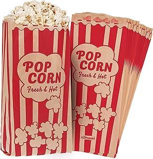 Popcorn Bags 1.5oz Vintage Retro Style - Coated Oil/Grease Proof - Prevent Salt Popcorn Seasoning Popcorn Kernels & Pop Co...
