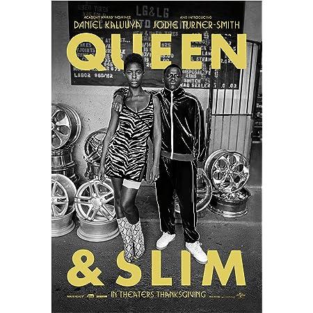 Queen & Slim Movie Poster Glossy Print Photo Wall Art Daniel Kaluuya, Jodie Turner-Smith Sizes 8x10 11x17 16x20 22x28 24x36 27x40#1 (22x28 inches)