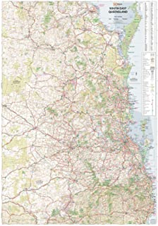 South East Queensland Hema 700 x 1000mm Laminated Wall Map