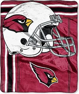 The Northwest Company Officially Licensed NFL Arizona Cardinals Touchback Plush Raschel Throw Blanket, 50
