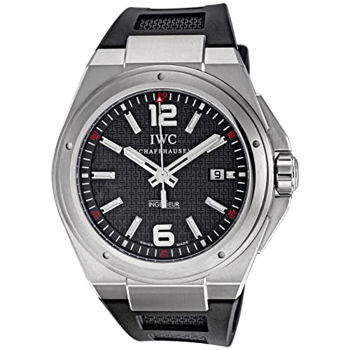 IWC Mens IW323601 Ingenieur Mission Earth Black Textured Dial Watch