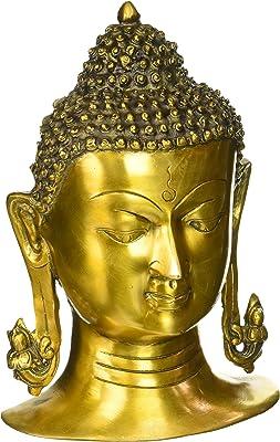 CraftVatika Large Buddha Head Statue, 11 Inch Height