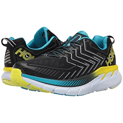 Hoka One One Clifton 4 (Black/Cyan/Citrus) Men