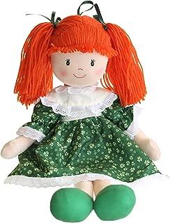 Sinead Irish Rag Doll With Green Shamrock Dress 19