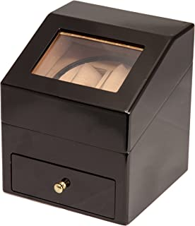 Brand New Black Wood 2+2 Automatic Dual/Double Watch Winder Display Storage Box Battery OR AC/DC Power
