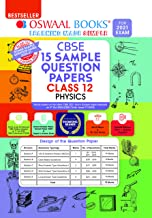 Oswaal CBSE Sample Question Paper Class 12 Physics Book (Reduced Syllabus for 2021 Exam)