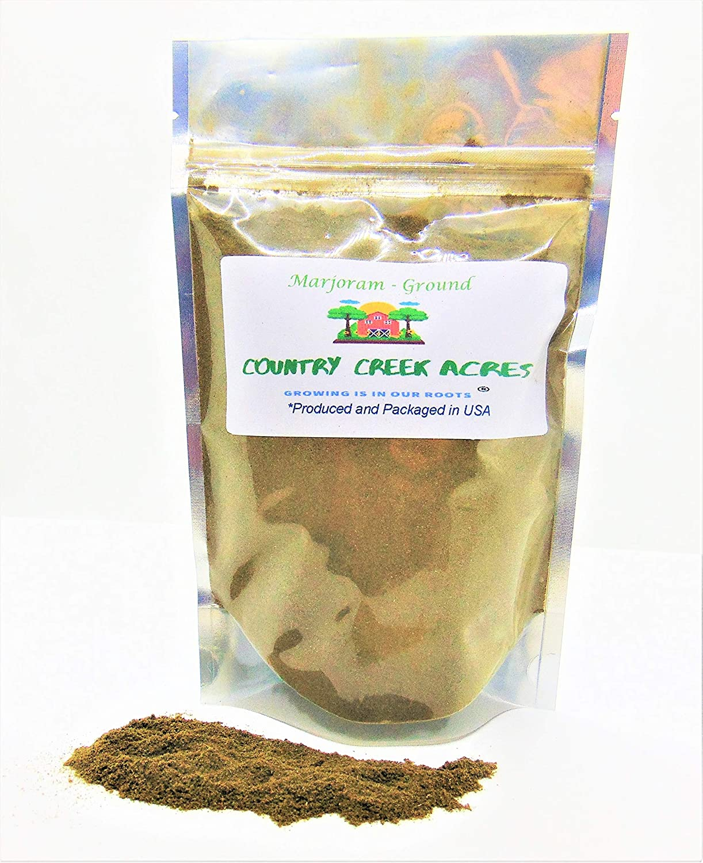 16 oz Ground Marjoram Max 53% OFF Seasoning- Genuine Free Shipping Its Taste Aromatic Sl Warm is