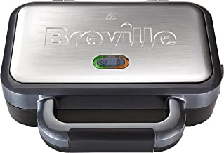 Breville VST041 Deep Fill Sandwich Toaster and Toastie Maker with Removable Plates, Non-Stick, Stainless Steel