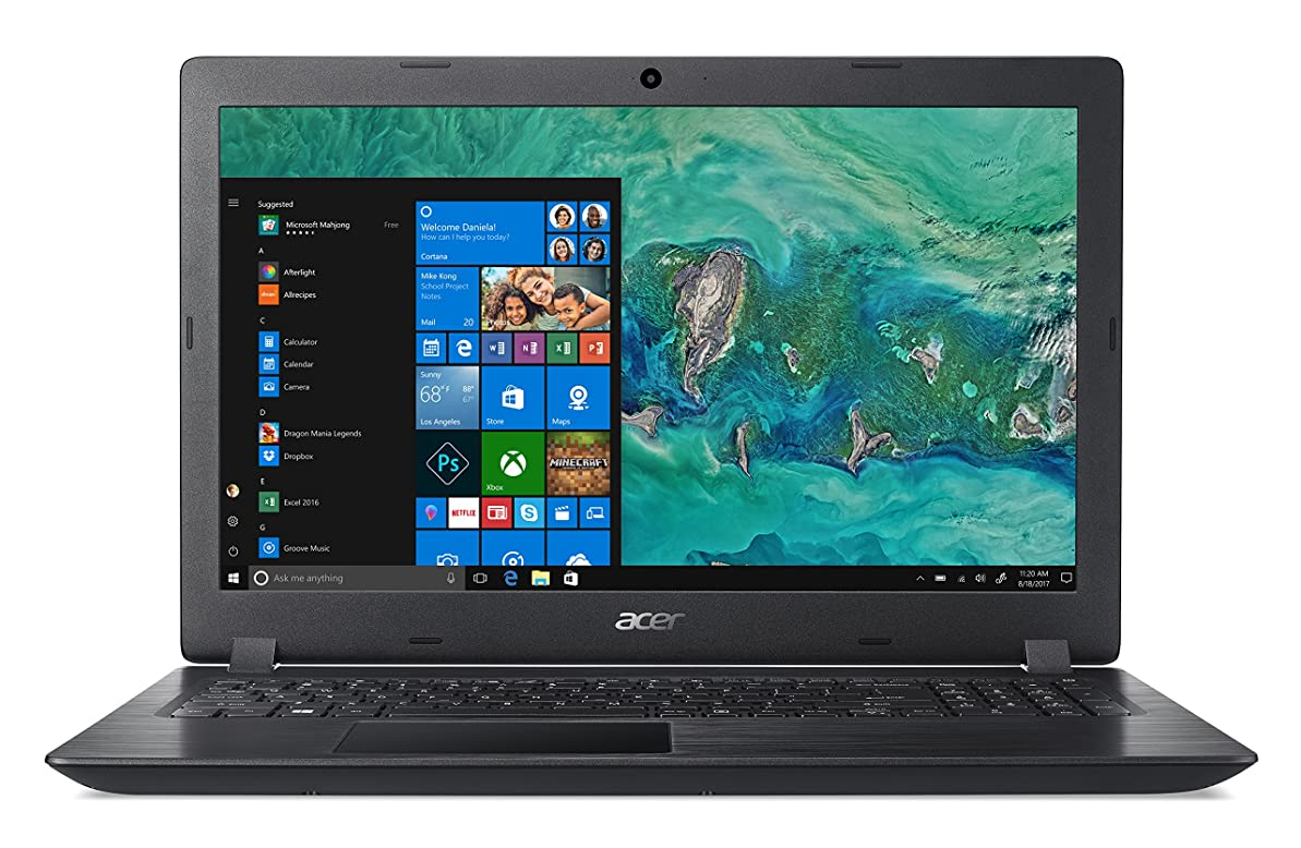 近代化数学者溶かすAcer Aspire 3 A315-32-C7FGノートブック、Intel Celeron N4000プロセッサ、4 GB DDR4 RAM、1000 GB HDD、15.6インチHDディスプレイ、ブラック