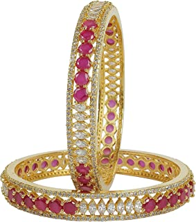 MUCH-MORE Brilliant Design Diamond Swarovski Gold Plated Elements Indian Bollywood Bangles/Bracelets Cubic-Zirconia Jewelry