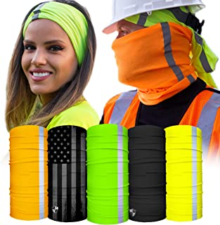 S A - UV Face Shield 5 Pack - Multipurpose Neck Gaiter, Balaclava, Elastic Face Mask for Men and Women