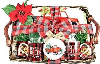 Gift Basket Village A Cozy Christmas Gift Basket with Holiday Mugs, Original