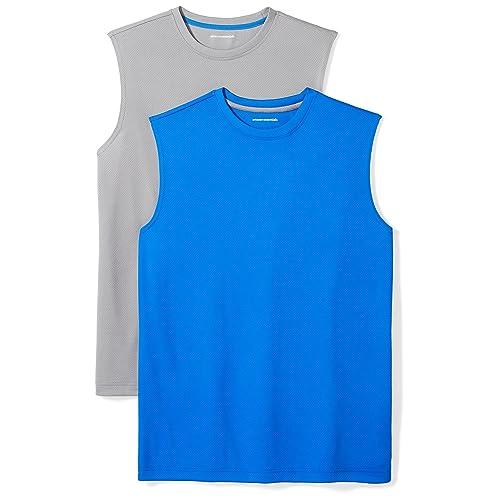 d51d502b915ace Amazon Essentials Men s 2-Pack Performance Muscle T-Shirts
