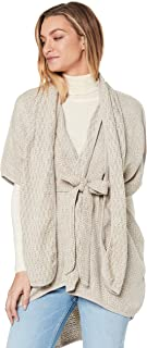 Three of Something Women's Nightingale Cape, Grey and White Speckle, One Size