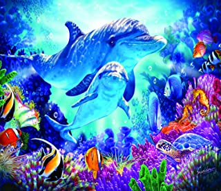 Dolphin Family 200 Piece Jigsaw Puzzle by SunsOut