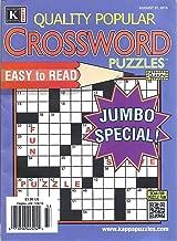 Quality Popular Crossword Puzzles Magazine (August 31, 2015 - Jumbo Special)