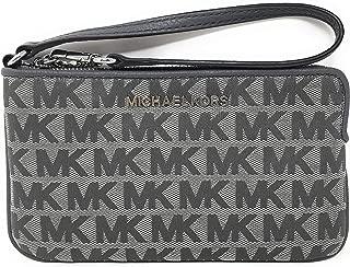 Michael Kors Jet Set Travel Large Top Zip Wristlet - Signature Monogram (Heather Grey)