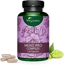 VEGAVERO® Meno Pro Complex | 100% NATÜRLICH | Nachtkerze – Hopfen – Leinsamen – Salbei – Kamille – Melisse | Hochdosierte Extrakte | Menopause | Laborgeprüft | Vegan | 120 Kapseln