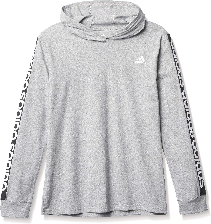 Amazon.com: adidas Boys' Long Sleeve Cotton Jersey Hooded T-Shirt ...