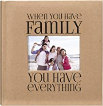 Malden International Designs 7091-26 Sentiments Family with Memo Photo Opening Cover Brag Book, 2-Up, 160-4x6, Tan