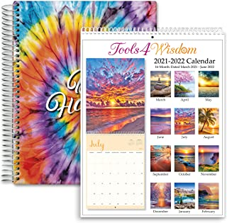 $49 » 2 in 1 Bundle Hardcover Planner plus Wall Calendar - Both 2021-2022 Planner and Calendar Dated April 2021 to June 2022 - Q...