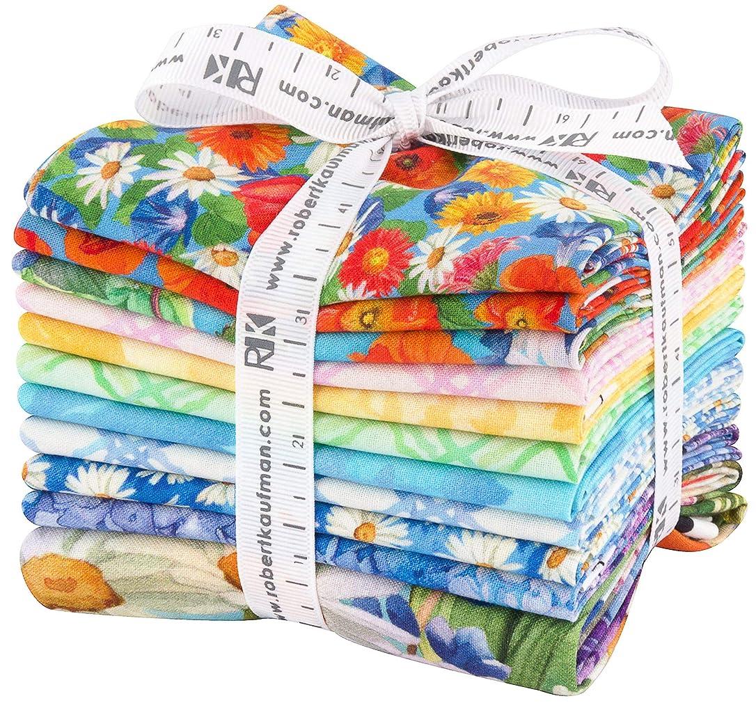 Lynnea Washburn Vibrant Garden 10 Fat Quarters 1 Panel Robert Kaufman Fabrics FQ-1466-11 xwqnrlvtteqokcj4
