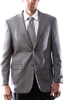Prontomoda Italia Men's 2 Button Wool Cashmere Taupe Sport Coat