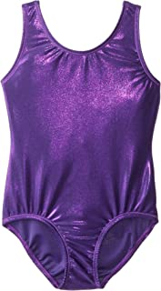 Danskin Girls' Gymnastics Solid Sparkle Leotard