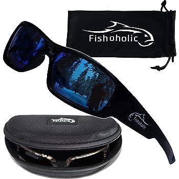 Fishoholic Polarized Fishing Sunglasses -5 Color Options- w Case Pouch UV400 Fishing Gift
