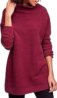 Ribbed Tunic Sweater Plum Xs