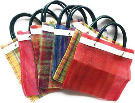 Mini Mexican Tote Favor Bags (Mexican Candy Bags - Mexican Mercado Bags - Mexican Mesh