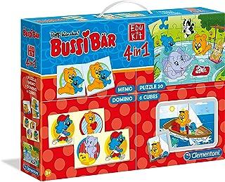 Clementoni 59157 Clementoni-59157-Edukit 4 in 1 Bussi Bear Learning Toy, Multicolour