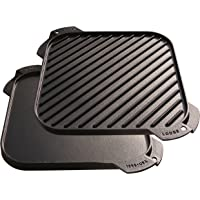 "Lodge 10.5"" Cast Iron Single-Burner Reversible Grill/Griddle"