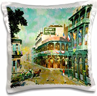 3dRose Painting of New Orleans Just Before Mardi Gras-Pillow Case, 16 by 16