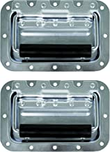 TCH Hardware 2 Pack Medium Spring Loaded Steel Recessed Handle Zinc with Padded Grip Case Chest Box