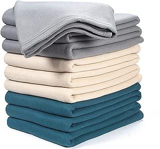 Farmhouse Throw Blanket in Fleece ,Polar Fleece Twin Blanket 70x90 Charcoal, Extra Soft Brush Fabric - Super Warm Bed Blanket - Lightweight Couch Blanket,Luxury Fleece Blanket, Easy Care
