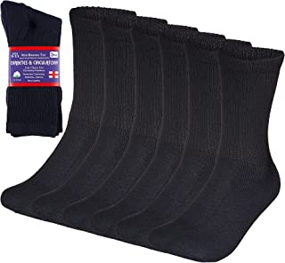 Special Essentials 6 Pairs Diabetic Socks Crew Physicians Approved Navy Unisex (Navy, 13-15)