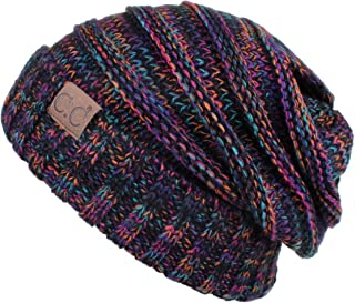 Hatsandscarf Exclusives Unisex Beanie Oversized Slouchy Cable Knit Beanie (HAT-100)