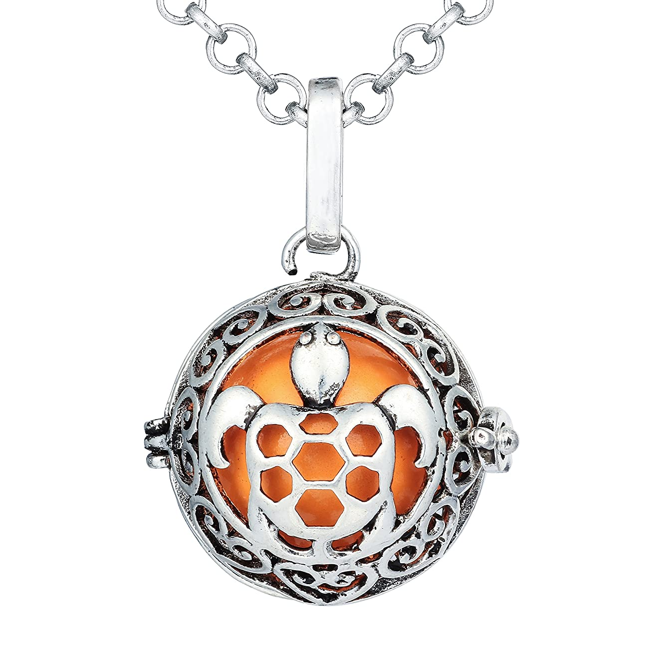 Bonnie Sea Turtle Music Chime Pregnancy Tortoise Locket Angel Caller Ball Pendant Necklace