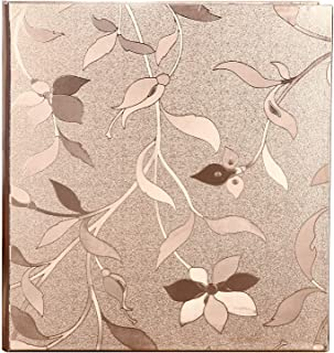 Wedding Photo Album, Huge Photo Album, Rose Gold PVC Leather Cover 620 Pockets,4x6 5x7 Mixed Pockets, US-AKI-006