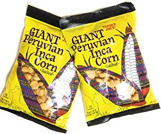 Trader Joes Giant Peruvian Inca Corn Salted Crunchy Snack 8 Oz - 2 Pack