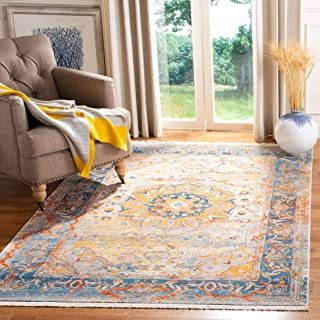 Safavieh Vintage Persian Collection VTP435B Traditional Oriental Blue and Multi Area Rug (3' x 5')