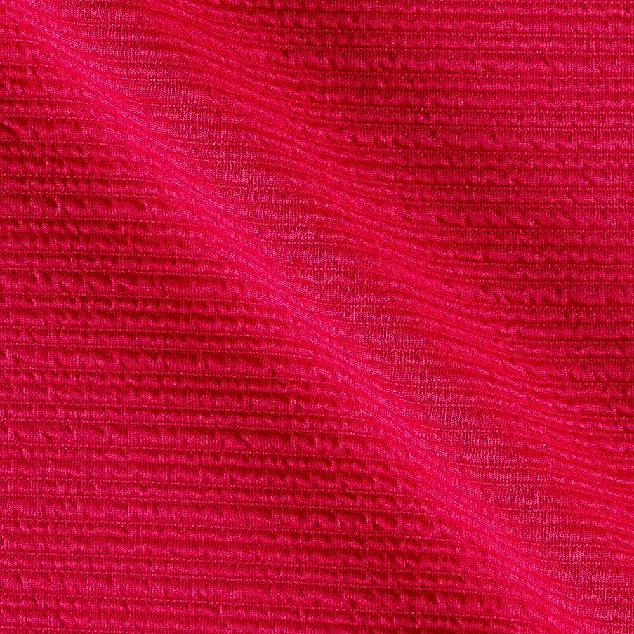 TELIO High Low Pique Knit Fabric The Yard, Fuschia