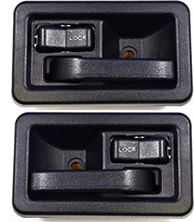 PT Auto Warehouse CH-2833A-DP - Inside Interior Inner Door Handle, Black - Left/Right Pair