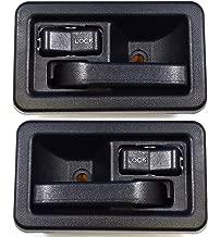 PT Auto Warehouse CH-2833A-DP - Inside Interior Inner Door Handle, Black - Left/Right Pair