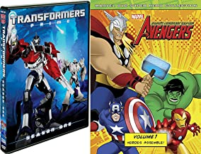 Animated Comic Book Collection - Transformers Prime Season One & Marvel Avengers Volume One: Heroes Assemble DVD Bundle