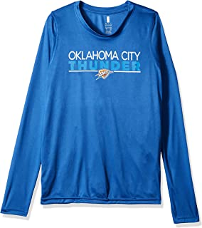 Outerstuff NBA NBA Youth Boys Oklahoma City Thunder Tactical Stance Long Sleeve Performance Tee, Strong Blue, Youth Medium(10-12)