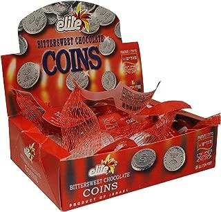 Elite Hanukkah Chocolate Coins - Box 24 Sacks, Flavor: Bittersweet 12.7oz